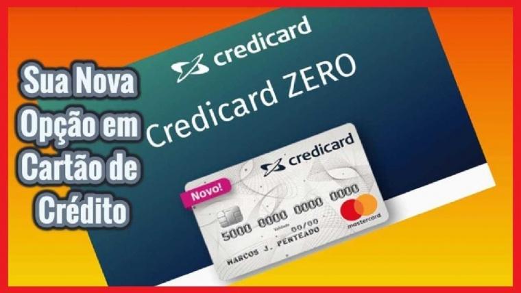 Cartão Credicard Zero Mastercard. Zero anuidade