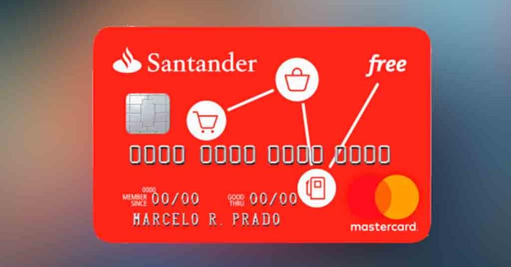 Cartão Santander Free – sem anuidade