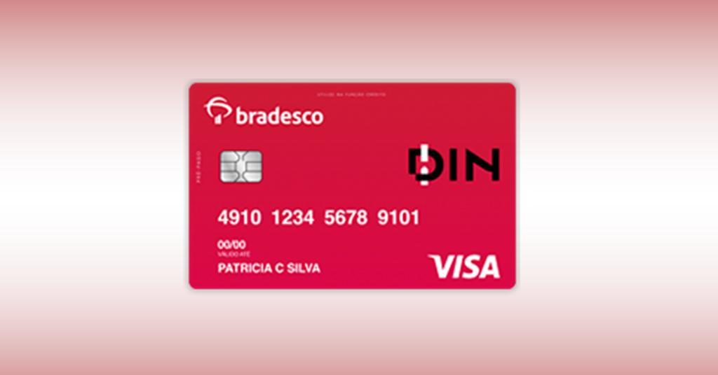 Bradesco DIN Visa – Sem consulta, sem renda mínima