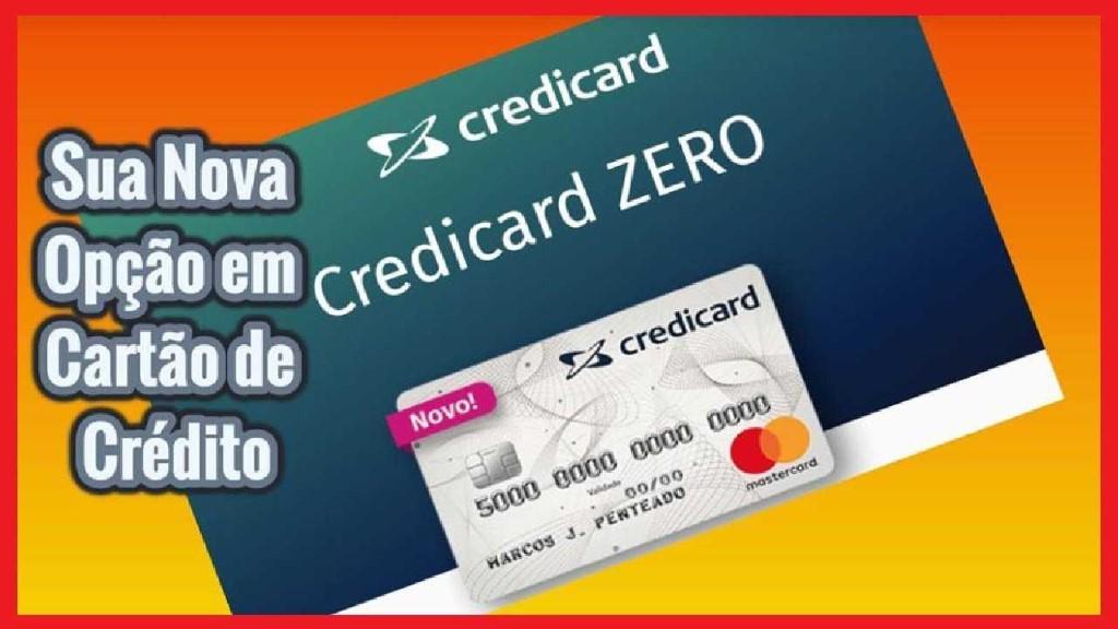 Cartão Credicard Zero Mastercard
