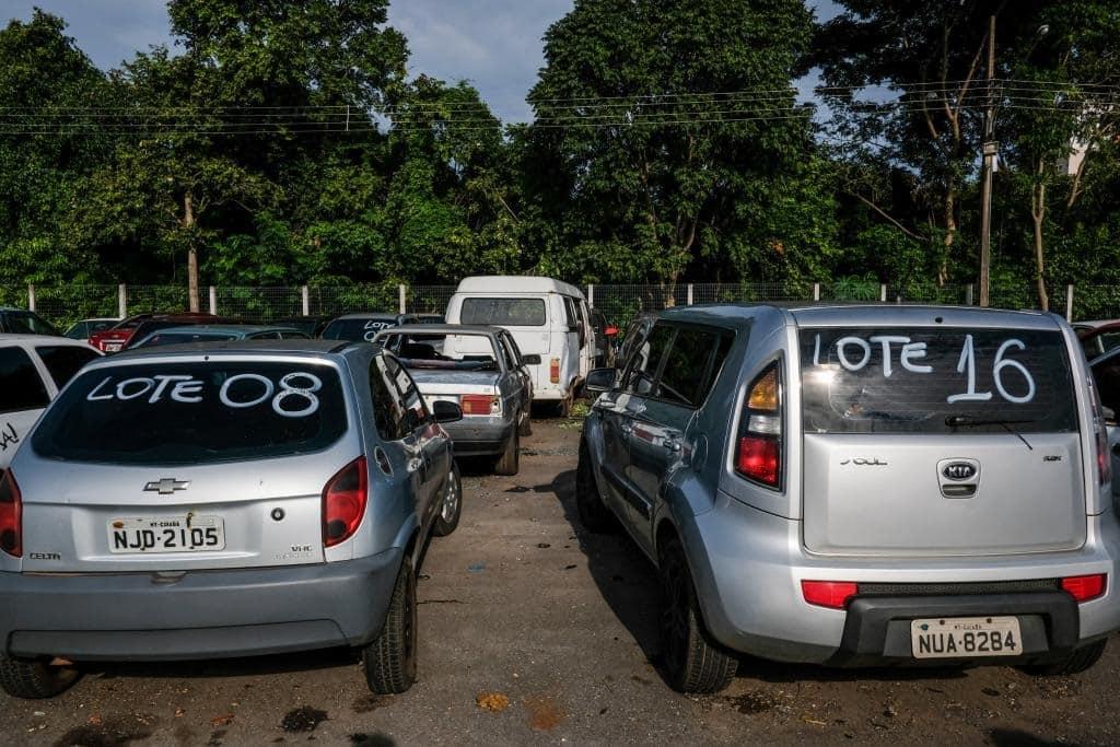 Leilão de carros no Banco do Brasil